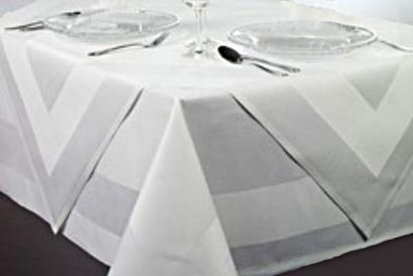 Mitteldecke Padua, weiß, mit Atlaskante, 80x80