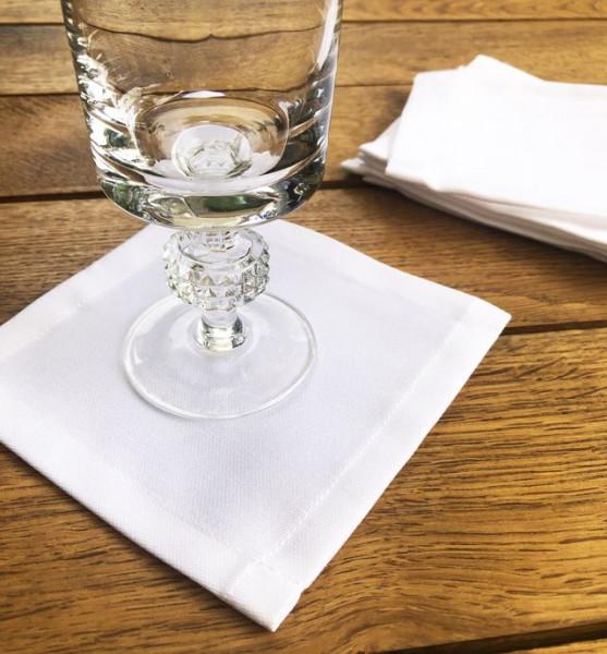 100 Cocktailservietten Untersetzer-Deckchen weiß 12x12cm