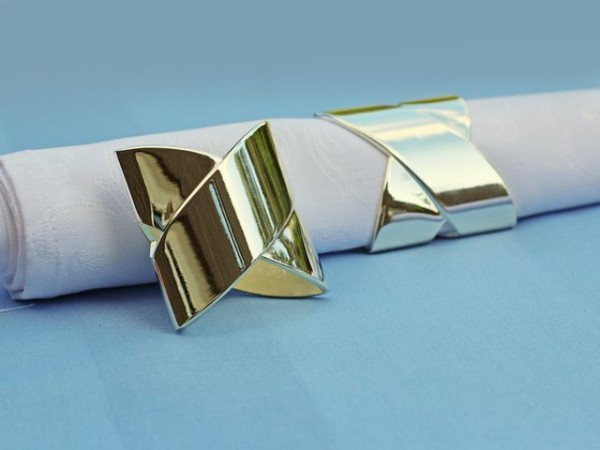Napkin ring Lissabon, silver coated