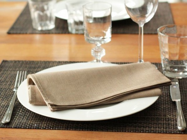 6 linen napkins, natural, 50x50