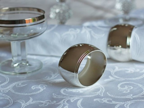 Napkin ring Tilo, oval, silver coated