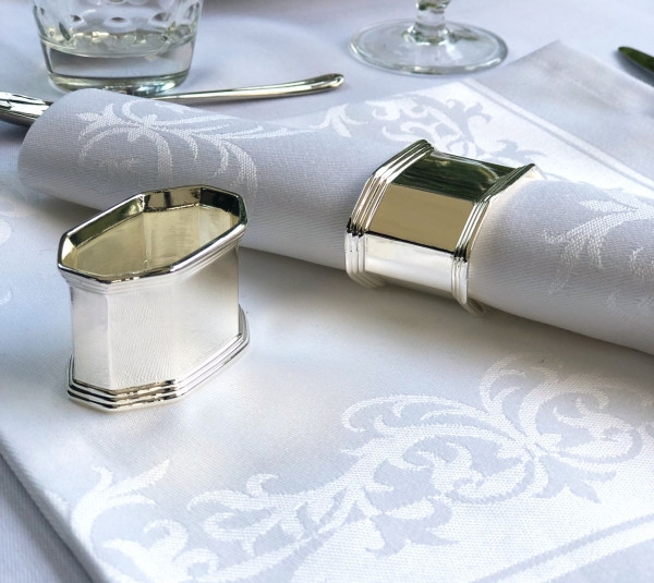 Napkin ring Louisa, oval, silver coated