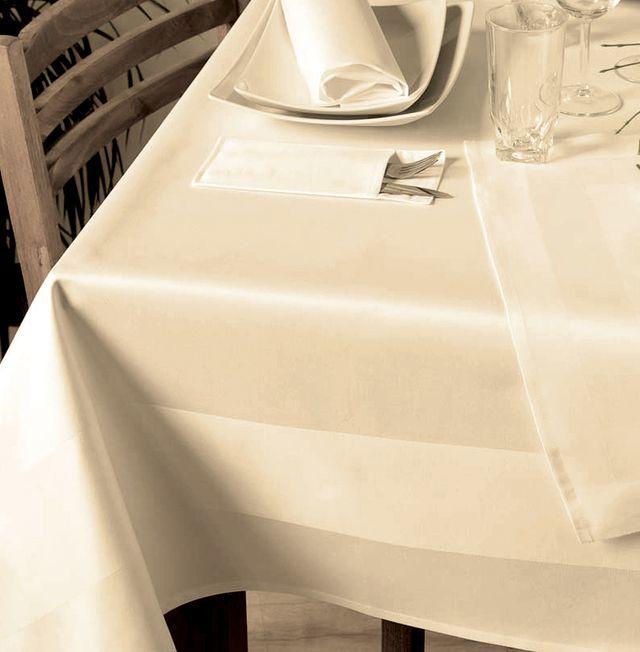 mitteldecke sekt champagner baumwolle mit atlasstreifen 80x80 tischdecken shop libusch. Black Bedroom Furniture Sets. Home Design Ideas